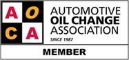 automotive oil change association member since 1987