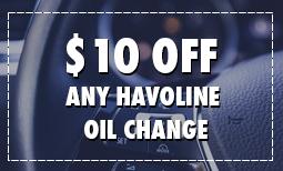 $10 Off Any Havoline Oil Change