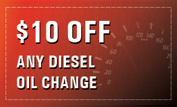 $10 Off Any Diesel Oil Change