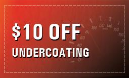 $10 Off Undercoating