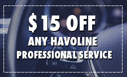 $15 Off Any Havoline Professional Service