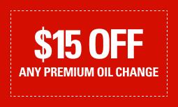 $15 Off Any Premium Oil Change