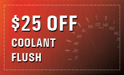 $25 Off Coolant Flush