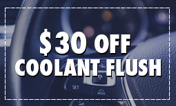 $30 Off Coolant Flush