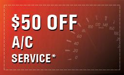 $50 OFF A/C Service*