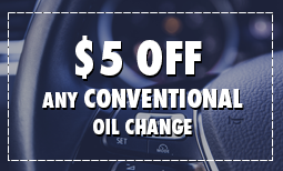 $5 Off Conventional Oil Change