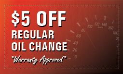 $5 Off Regular Oil Change *Warranty Approved*