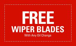 Free Wiper Blades wit Oil Change