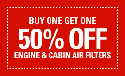 BOGO 50% Off Engine and/or Cabin Filters