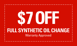 $7 Off Full Synthetic Oil Change *Warranty Approved*