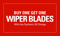 BOGO Wiper Blades with a Synthetic Oil Change