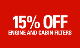 15% Off Engine and Cabin Filters