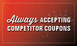 Always Accepting Competitor Coupons